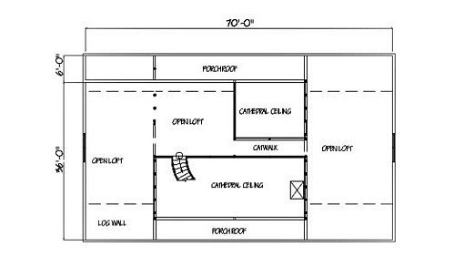 Log Home Plan #01965