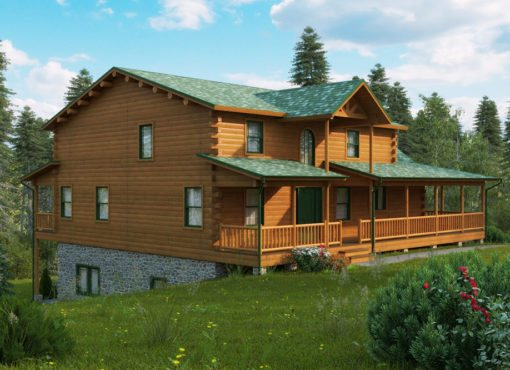 Log Home Plan #11251