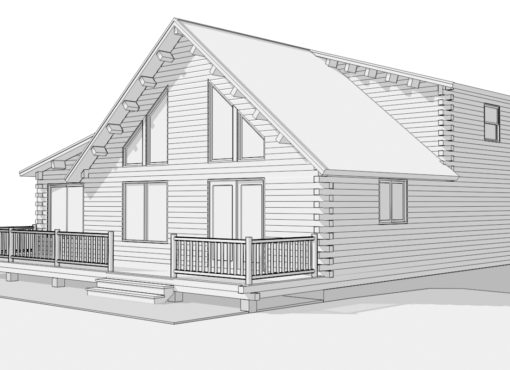 Log Home Plan #15318