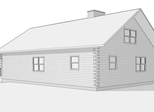 Log Home Plan #01882
