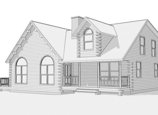 Log Home Plan #01829