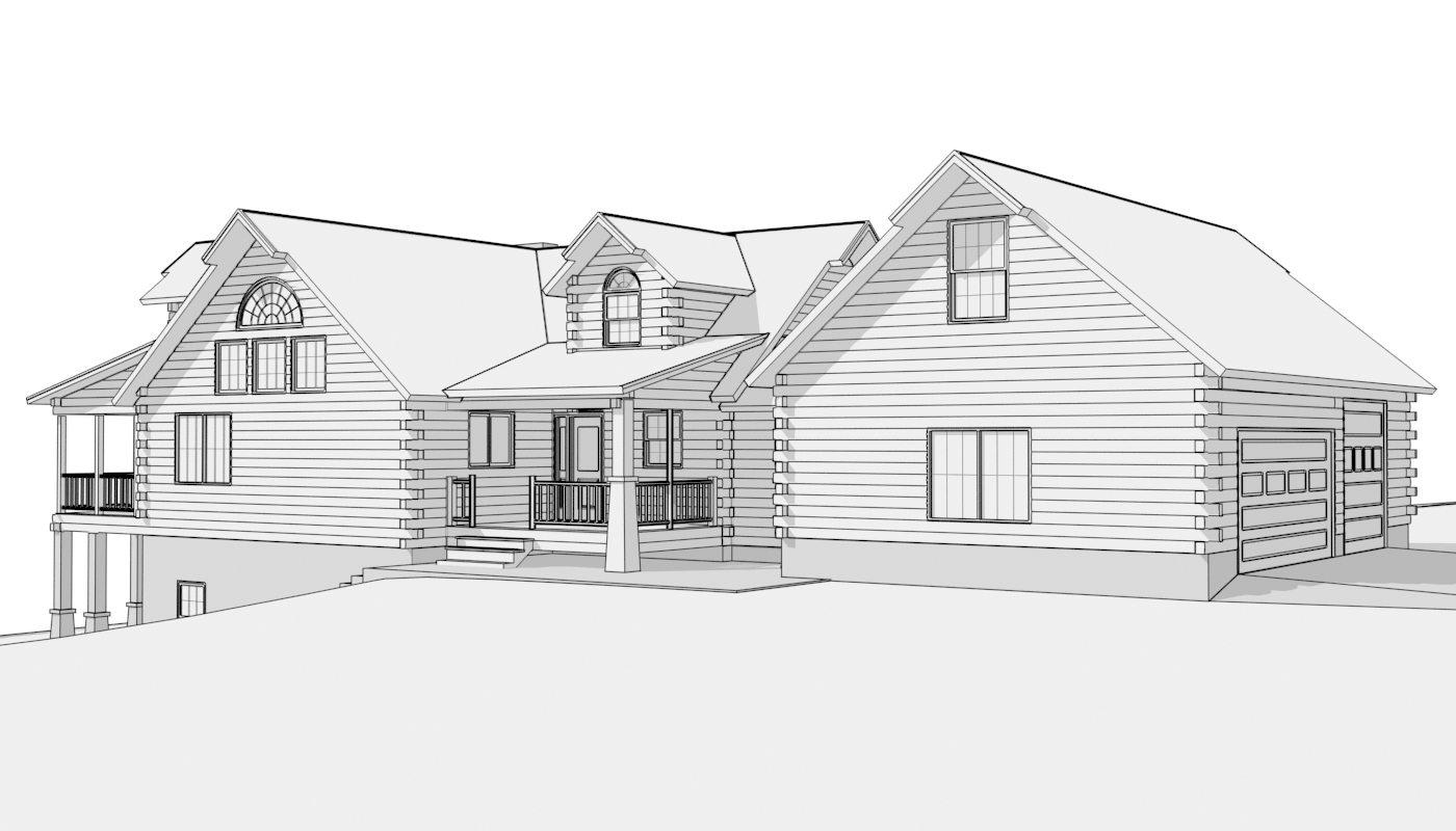Log home plan 15279 katahdin cedar log homes floor plans for Holland house design