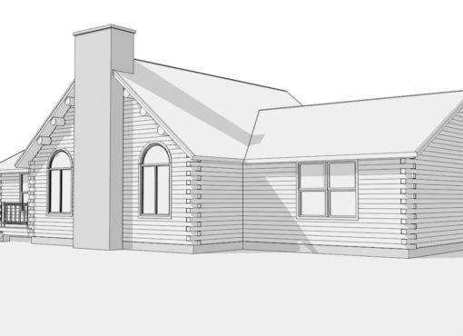 Log Home Plan #01836