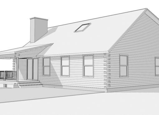 Log Home Plan #01873