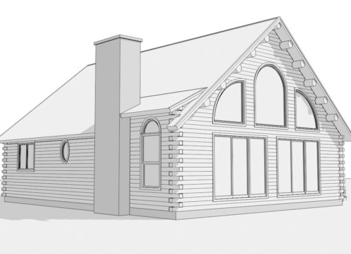 Log Home Plan #01848
