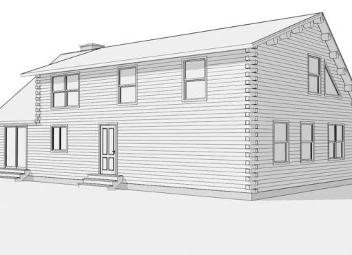 Log Home Plan #01898