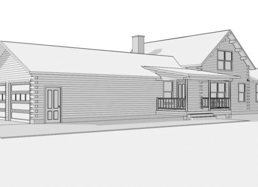 Log Home Plan #01846