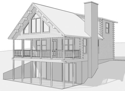 Log Home Plan #01896