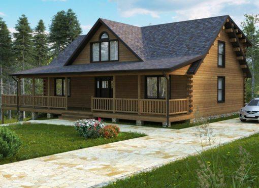 Log Home Plan #12123