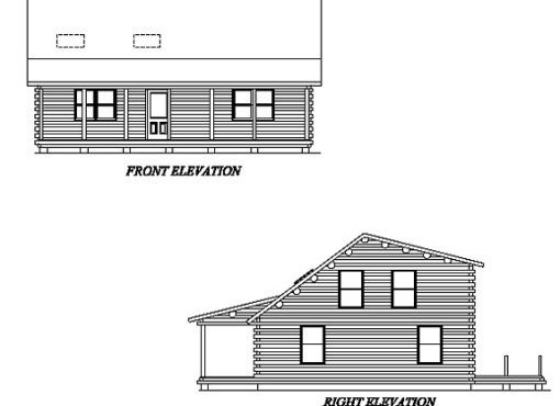 Log Home Plan #02001