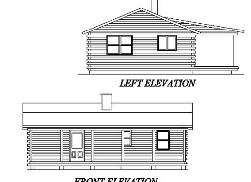 Log Home Plan #02005