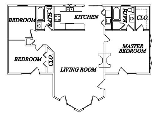Log Home Plan #02007