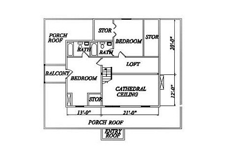 Log Home Plan #02010