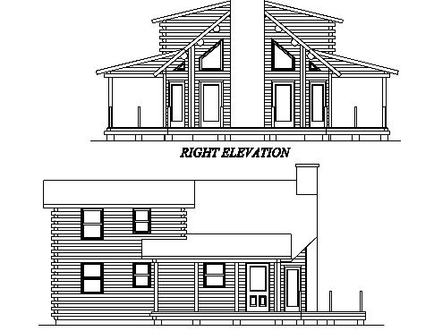 Log Home Plan #02011