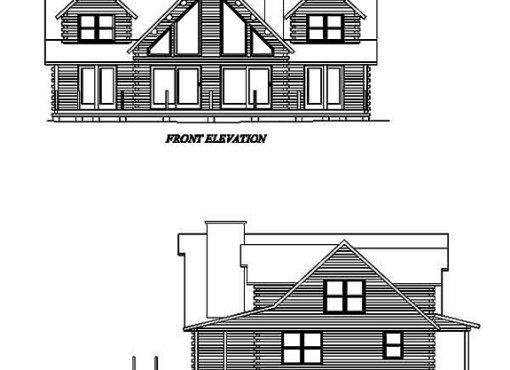 Log Home Plan #02012