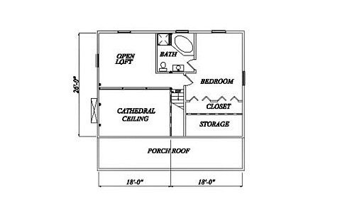 Log Home Plan #02013
