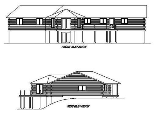 Log Home Plan #02015