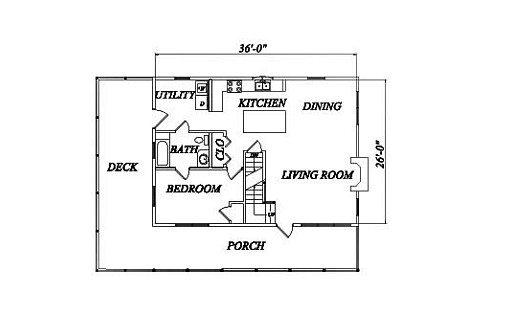 Log Home Plan #02016