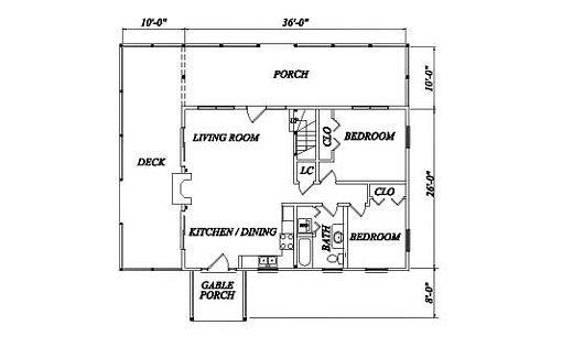 Log Home Plan #02017