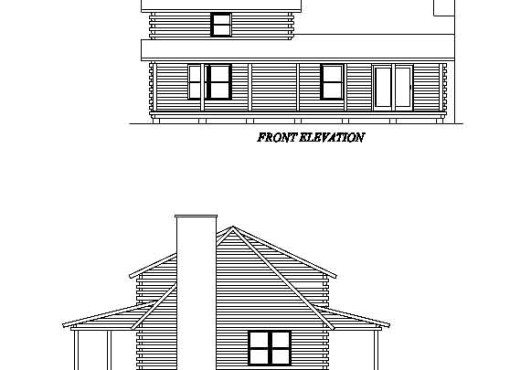 Log Home Plan #02035