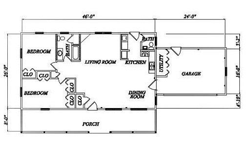 Log Home Plan #02036