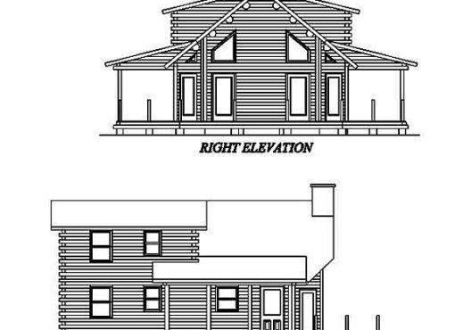 Log Home Plan #02109S