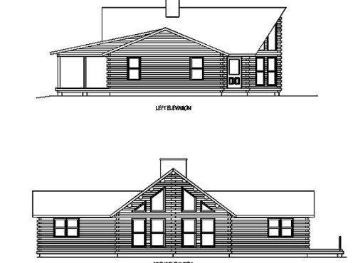 Log Home Plan #02917