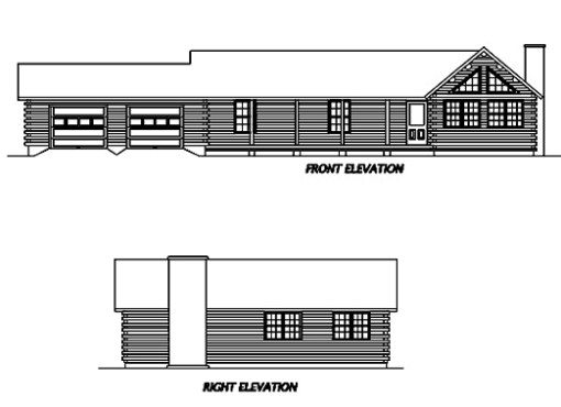 Log Home Plan #02919