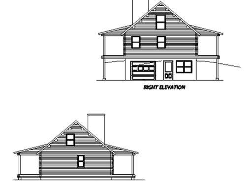 Log Home Plan #02922