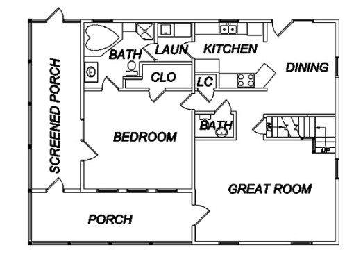 Log Home Plan #02927
