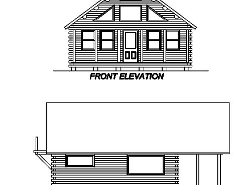 Log Home Plan #02928