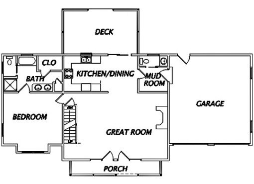 Log Home Plan #02929