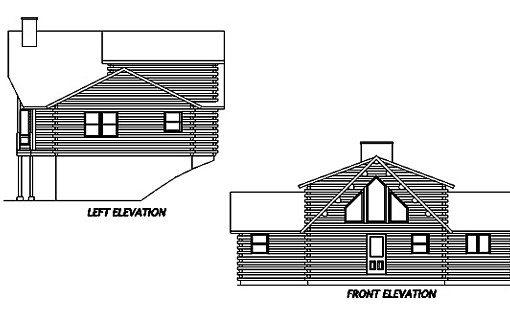 Log Home Plan #02930