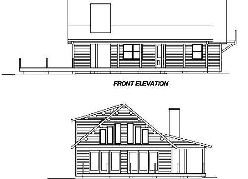 Log Home Plan #02933