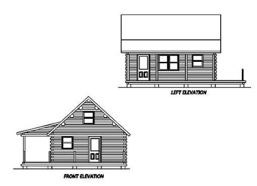 Log Home Plan #02940