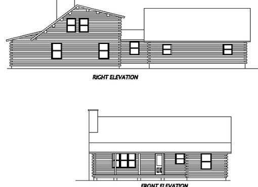 Log Home Plan #02942