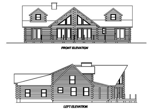 Log Home Plan #02945