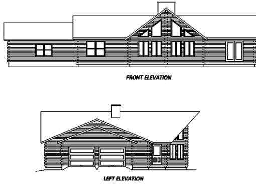 Log Home Plan #02946