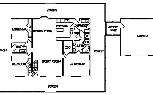 Log Home Plan #02947