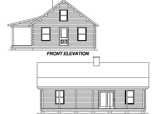 Log Home Plan #02950