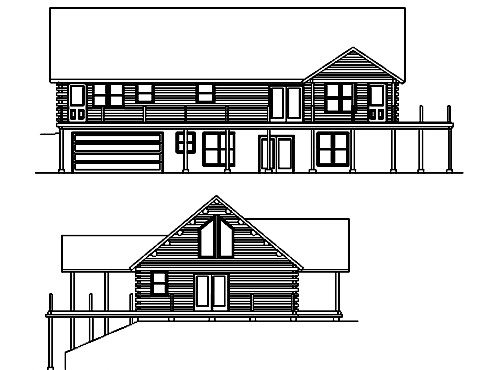 Log Home Plan #02951