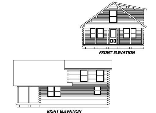 Log Home Plan #02953