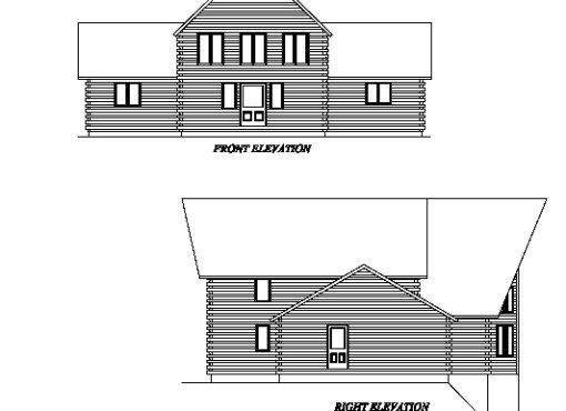 Log Home Plan #02957S