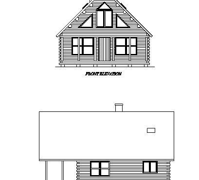 Log Home Plan #02958