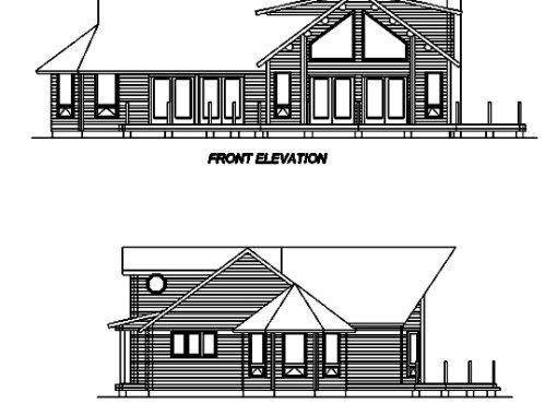Log Home Plan #02961S