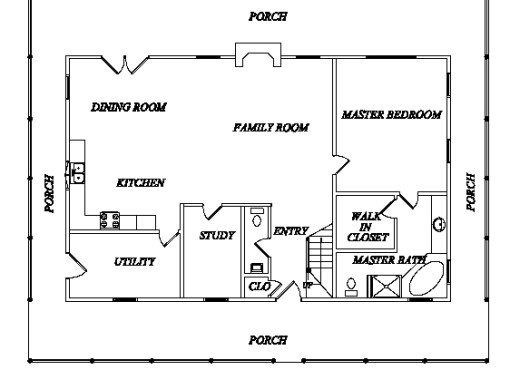 Log Home Plan #02962