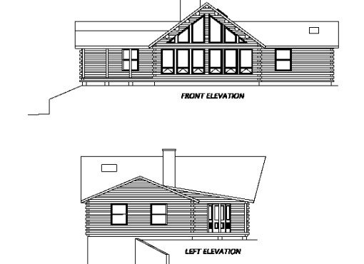Log Home Plan #02966S
