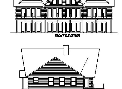 Log Home Plan #02970