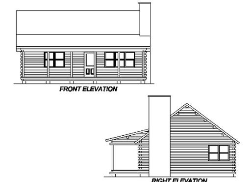 Log Home Plan #02975