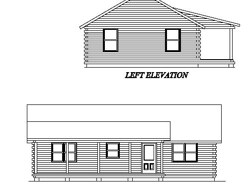 Log Home Plan #02982